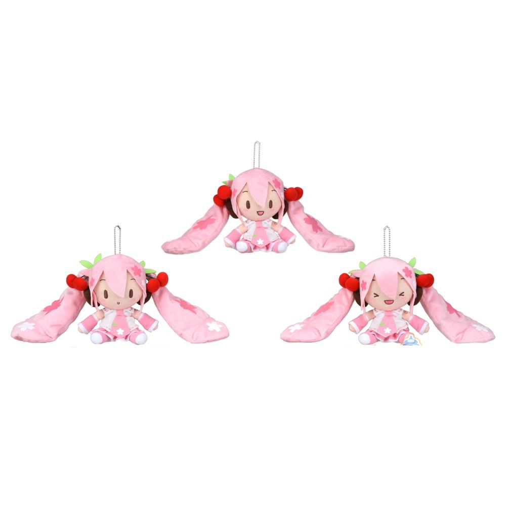 SEGA SEGA SEGA Vocaloid Hatsune Miku Sakura Cherry Blossoms Fluffy Plush Keychain 101007
