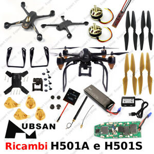 hubsan h501s eliche  Ricambi DRONE HUBSAN H501S e H501A piedini eliche batterie adat ...