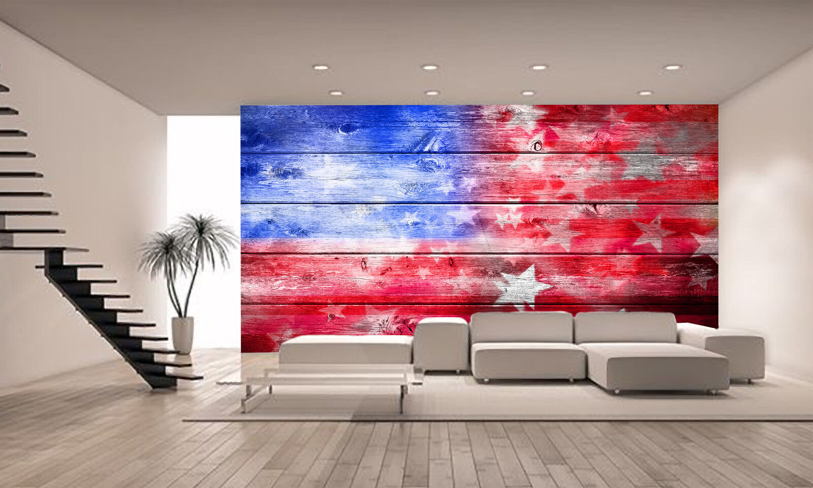American Flag Wall Mural Photo Wallpaper GIANT WALL DECOR PAPER POSTER