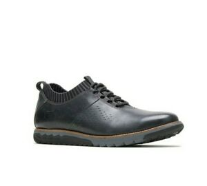 Hush Puppies Men S Expert Knit Oxfords Casual Shoes Black Leather Ebay
