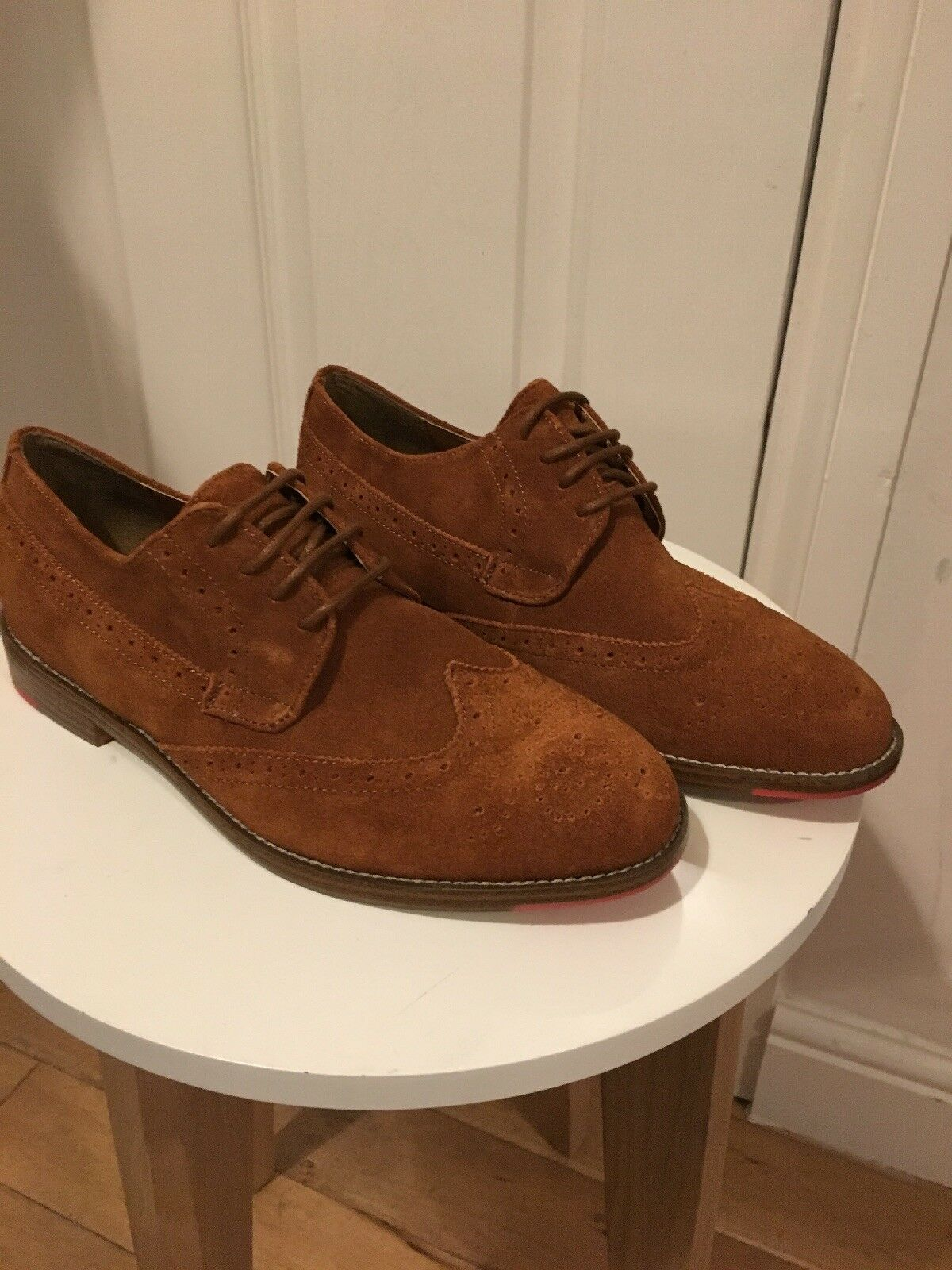 BNWT Office Mens shoes Size 6 100% Suede Leather Tan Brown New