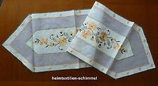Tischläufer Tischdeckchen Tischdecke FRÜHLING 40x140cm LEINENOPTIK Blume Organza
