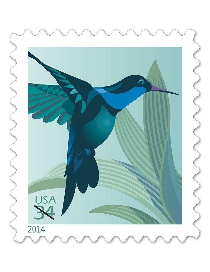 2014 34c Hummingbird, Plant Scott 4857 Mint F/VF NH