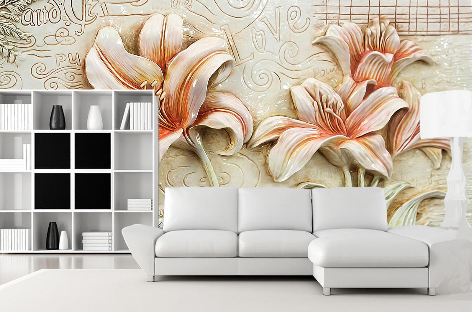 3D Geschnitzte Lilie 73 Tapete Wandgemälde Tapete Tapeten Tapeten Tapeten Bild Familie DE Summer | Hohe Qualität  bccb14
