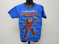 The Amazing Spiderman Block Style Kids Kid Xs X-small Size 4/5 T-shirt 67rc