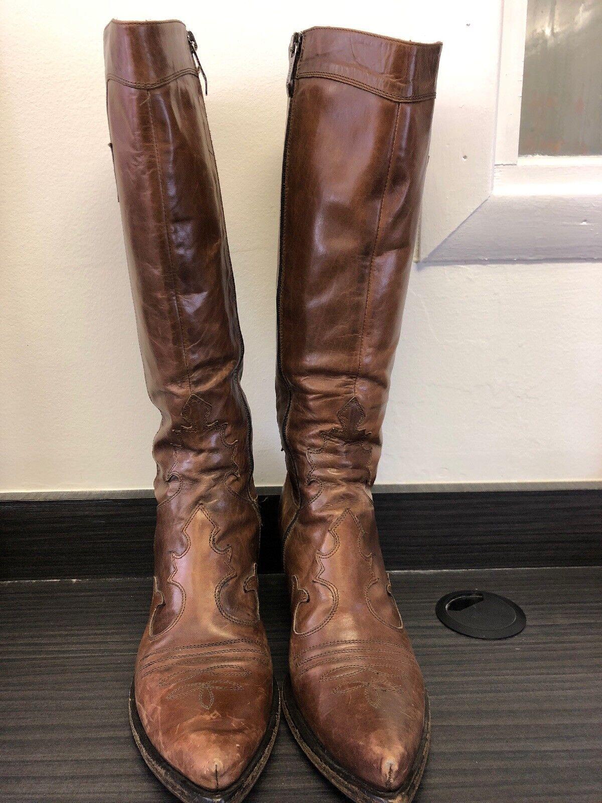 è scontato Santiag stivali Marrone Leather Leather Leather 39  garantito