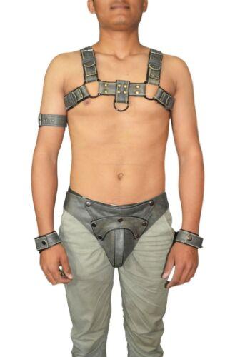 Leather Male Costume Men Body Chest Harness Fancy Wear Clubwear With Jock