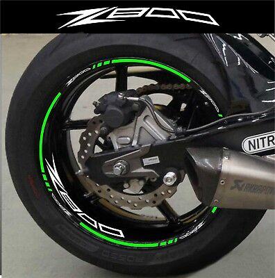 R/éfl/échissant Argent Jante de Moto d/écalcomanies Autocollant Accessoire pour Kawasaki Z800