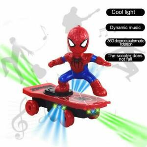 Electric-Spiderman-Scooter-360-Rotating-Kids-Toy-With-Light-and-Music
