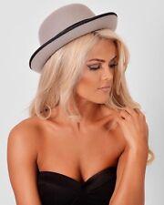 Boutique Celeb Grey Felt Bowler Hat BNWT