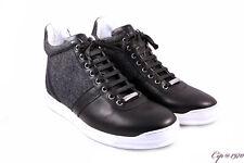 DIOR Homme sneakers alte uomo pelle nera e tessuto n. 42. NUOVE!
