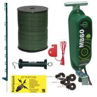 Electric Fence Kit - 12v Hotline Mb60 - 20 X 3ft Posts & 20mm Tape - Green
