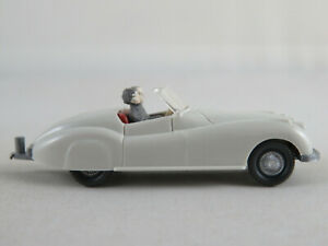 Wiking-20-11b-jaguar-Sport-1954-en-gris-blanco-1-87-h0-buen-estado