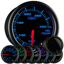 52mm GLOWSHIFT TINTED 7 COLOR LED ENGINE OIL TEMP GAUGE w SENDER