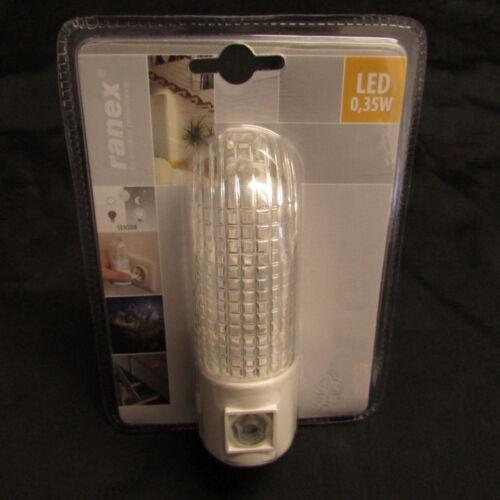 5 Stück SET Ranex LED Nachtlichter mit Dämmerungssensor Flurlicht Notlicht 0,35W