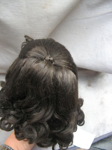 SIZE  10  DARK BROWN ROBYN  ANTIQUE MODERN DOLL WIGS SYNTHETIC MOHAIR