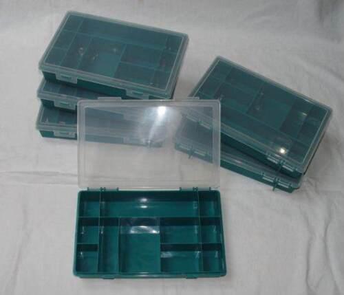 6 Stück Sortierkasten Sortierkiste Figurenbox Brettspielbox Zubehörbox 11 Fächer