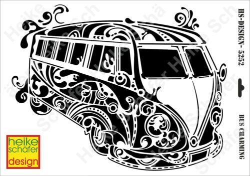 Heike Schäfer Design Schablone-Stencil A3 417-5252 Bus Charming Neu