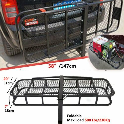 500LBS Universal Aluminum Car Rear Rack Basket Cargo Luggage Carrier JR1863 MI