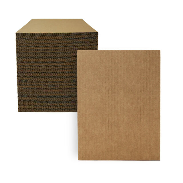 """1 9x12 Corrugated Cardboard Pads Filler Inserts Sheet 32 ECT 1//8/"""" Thick 9/"""" x 12/"""""""