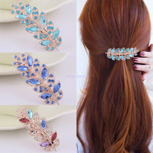 Women-039-s-Hair-clip-Crystal-Rhinestone-Hair-Pin-Barrette-Hairpin-Clips-Accessories