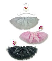 Teddy Bear Clothes Fits Build A Bear Teddies Tutu Frilly Skirt Black Pink White