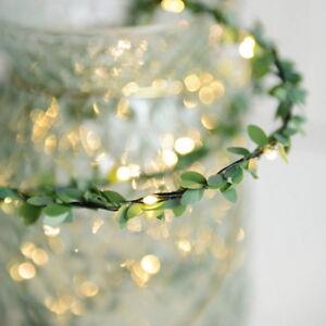 Flower-Leaves-LED-String-Lights-Battery-Powed-Lamp-Christmas-Xmas-Home-Decor