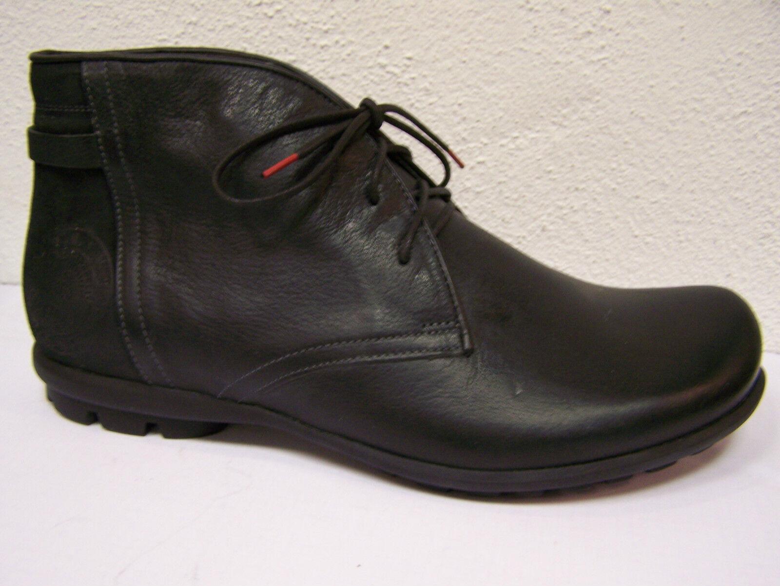 THINK  Schnürschuhe Stiefel Kong in schwarz Rustik   Nappa incl. Think Tüte    | Spielen Sie das Beste