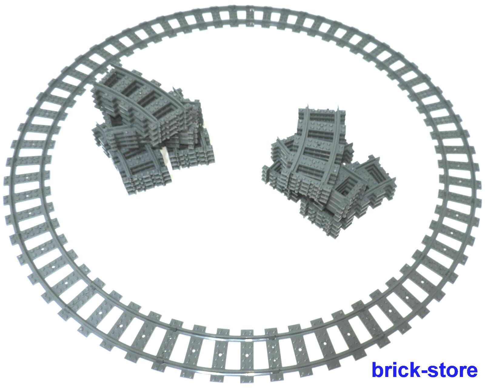 Lego Trains 3x Cercle Ferroviaire   48x Gebogne Rails