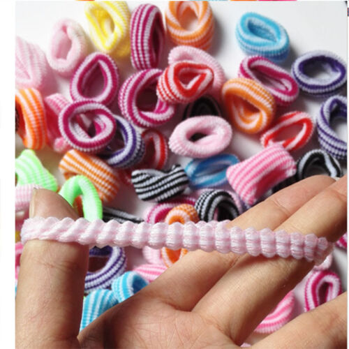High Quality Candy Color Baby Girls/' Elastic Hair ties Solid Stripe Hairbands