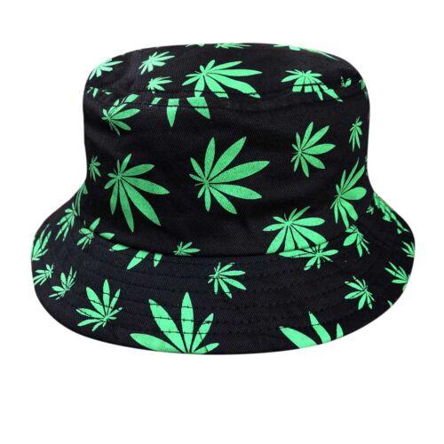 Rasta Kush Cannabis Weed Leaf Bucket Hat Cap Jamaica Reggae 1 size Fit Braces