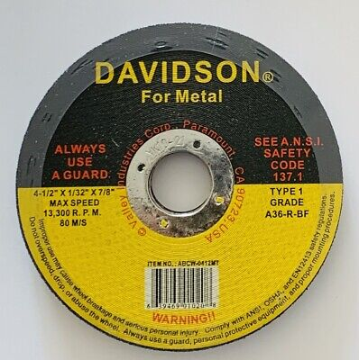 United Abrasives-SAIT 23101 Type 41//1 4-1//2-Inch x .045 Inch x 7//8-Inch Grade A60S General Purpose Cutting Wheels 50-Pack