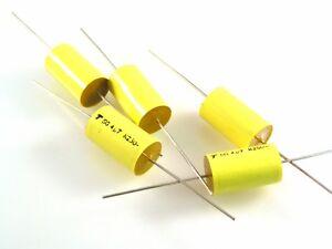 200 x 4.7uf 250v dc axial polyester film capacitors TPC SG274G0475k SG4U7k250