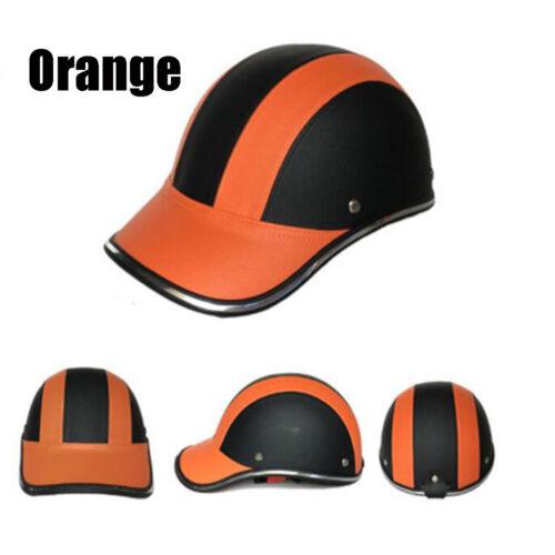 Motorcycle Scooter Bike Baseball Cap Style Half Open Face Safety Hard Hat Helmet