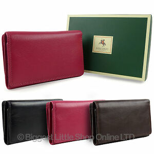 NEW-Ladies-LEATHER-Medium-Flap-Over-PURSE-WALLET-by-Visconti-HERITAGE-GIFT-BOX