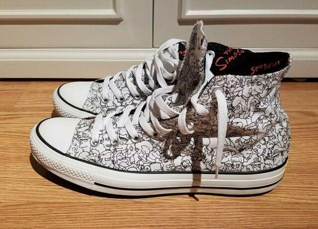 The Simpsons X Converse Chuck Taylor All Star Hi Top Sneaker M 9 W 11 145286F