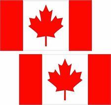 """2 - 3"""" x 1.8"""" Canada Flag Decal SET Canadian Maple Leaf Vinyl Car Bumper Sticker"""