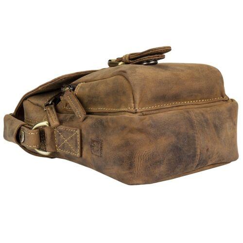 Greenburry vintage pequeñas cuero bandolera bolso de fotografía estuche 1651-25