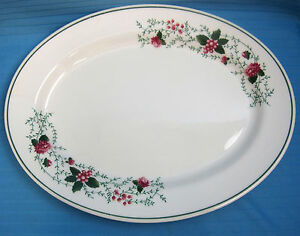 Waverly-Garden-Room-Roseberry-Large-14-034-Serving-Platter-Plate-Dish-Porcelain