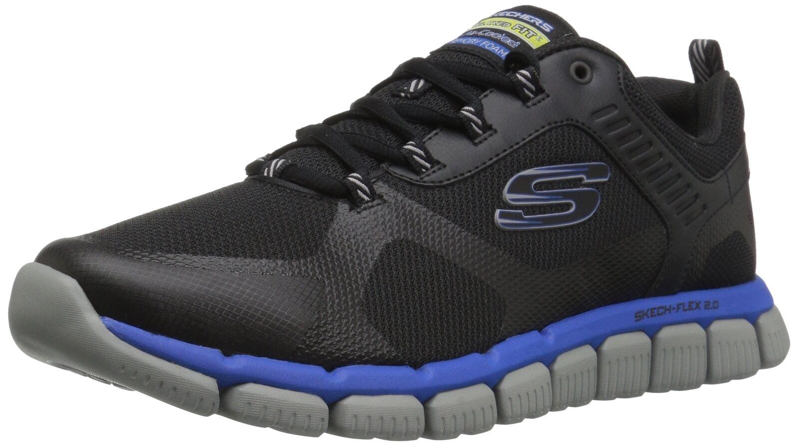 Skechers Sport Men's Skech Flex 2.0 Kominar Sneaker Black 10 M US