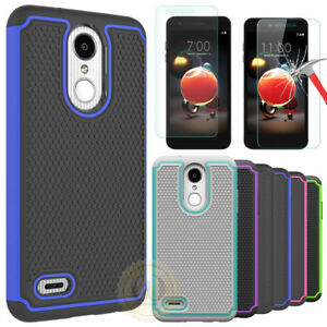 Details about For LG Aristo 2, LG Zone 4 Case Hybrid Armor Shockproof Cover  + Screen Protector