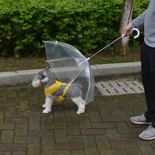 Transparent Pet Outdoor Umbrella Small Dog Rain Gear Keeps Pet Dry Comfortable