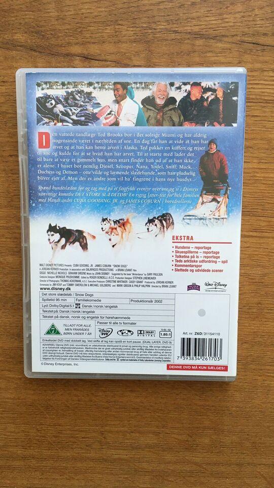 Det store slædeløb, DVD, familiefilm
