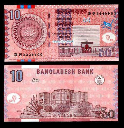 BANGLADESH 10 TAKA 2006 P 47 UNC