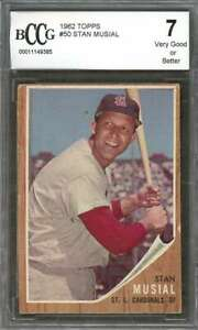Stan-Musial-Card-1962-Topps-50-St-Louis-Cardinals-BGS-BCCG-7