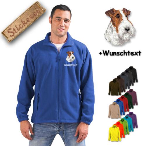 Giacca per Terrier ricamato text Wish Fox cane Ricamo M1 pile in IqBwr7I