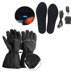 Electric Heated Shoe Insoles Pads Foot Heater Feet Warm Socks Ski Boot/Gloves