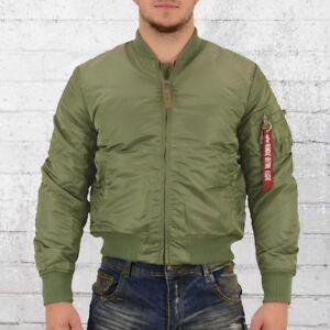 Details zu Alpha Industries Männer Bomberjacke MA 1 VF 59 oliv grün Piloten Jacke