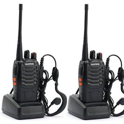 2PCS Baofeng BF-888S UHF 400-470 MHz Walkie Talkie Two Way Radio+Free earpiece