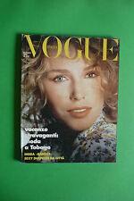VOGUE MAGGIO 435/1986 cover Kim Alexis MADONNA DAN FLAVIN JEAN CLAUDE CARRIERE